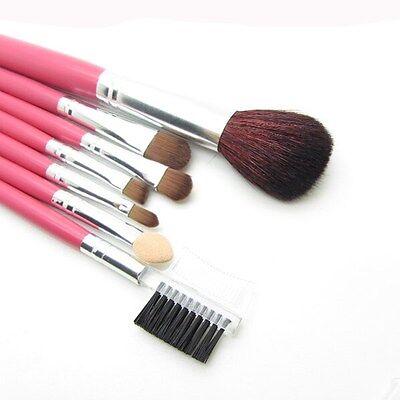 Pink Makeup 7pcs Brushes Set Powder Foundation Eyeshadow Eyeliner Lip Brush Tool