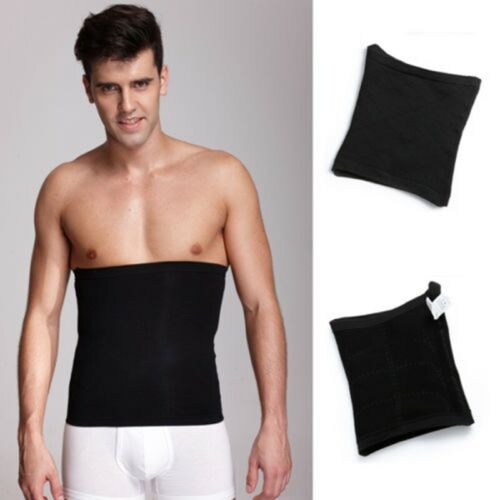 Men NEW Slimming Body Shaper Belly Waist Abdomen Belt Shapewear Band Compression