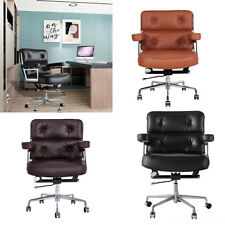Genuine Leather Executive Chair Office Chair Aluminum Alloy Base Swivel