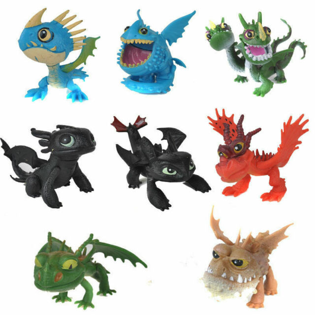 How To Train Your Dragon Night Fury Play Set 8pc Action Figures Large 4-1//2/""