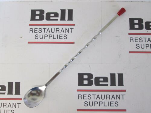 *NEW* UPDATE BSP-11 STAINLESS STEEL 11 BAR SPOON - RED TIP, SPIRAL HANDLE