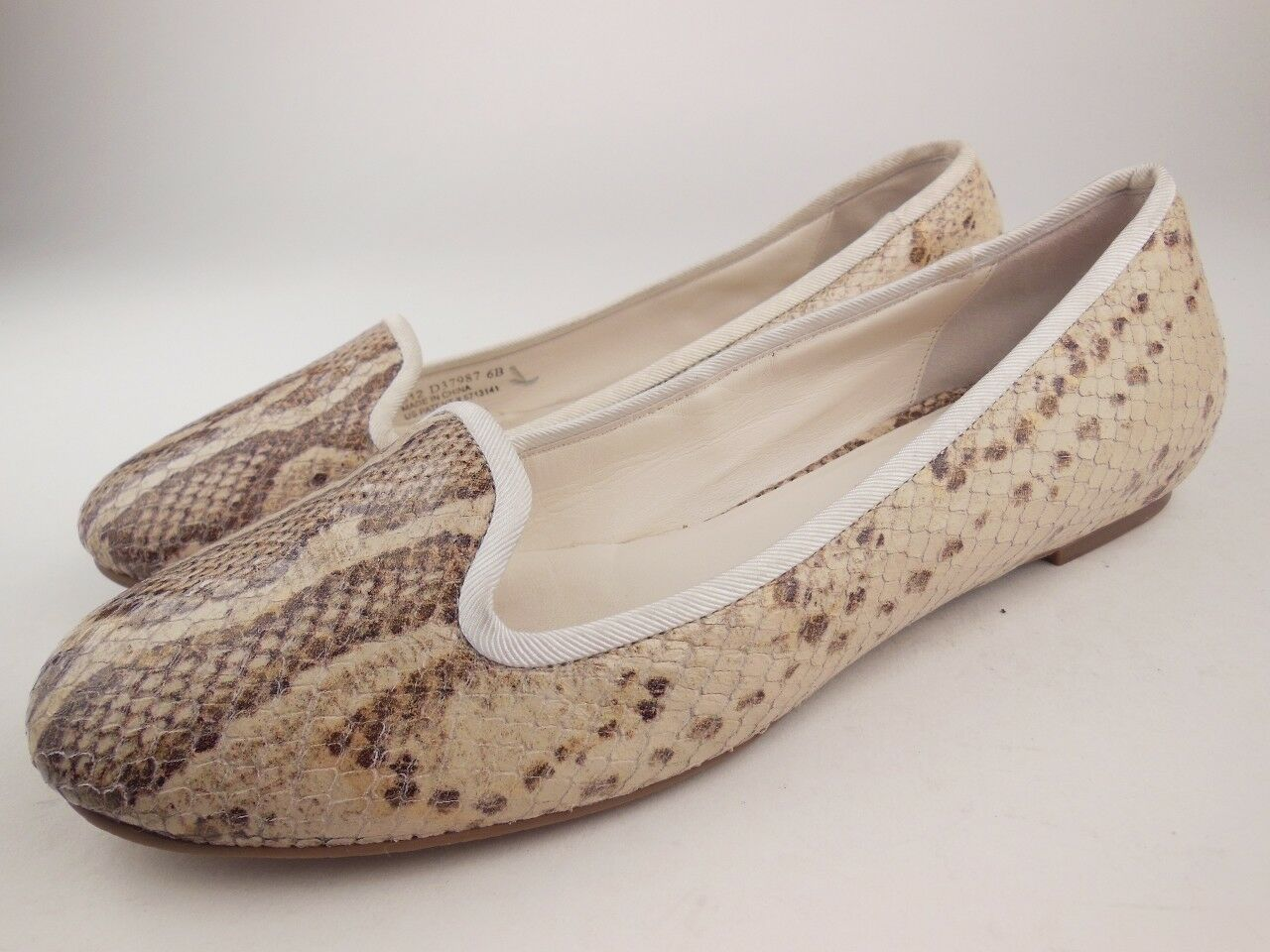 COLE HAAN Air Morgan Cream Snake Leather Ballet Flats shoes Women's Size 6 B