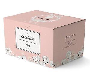 WHITE-RABBIT-Premium-Cotton-Pad-Plain-Type-25pcs-100-Pure-Cotton