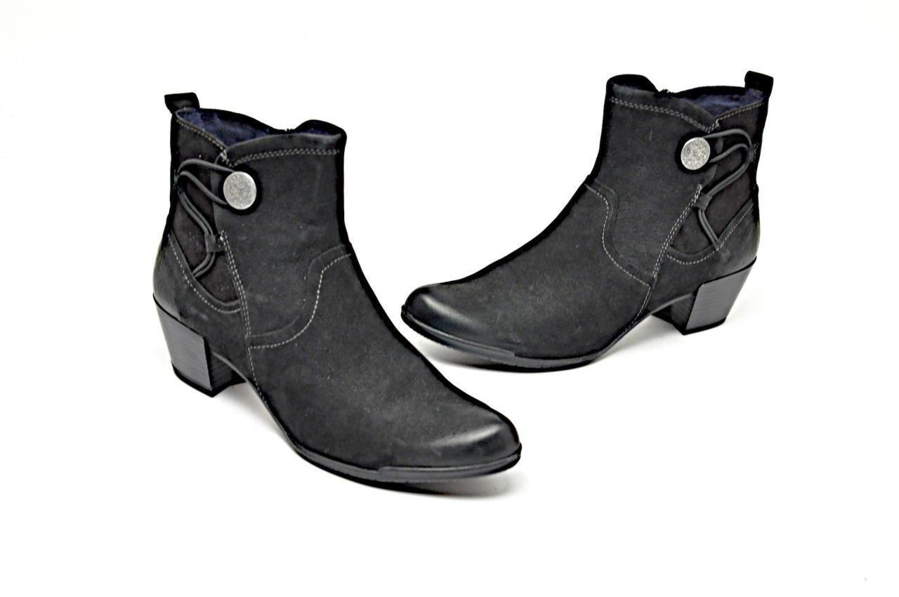 Tamaris botas botas botas al Tobillo Gamuza Cuero Negro Envejecido Gel Footbeds Menta Talla 41  orden en línea