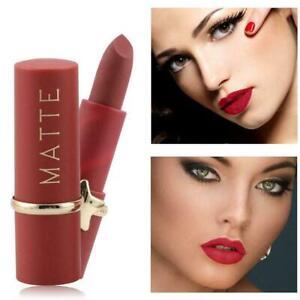 Wasserdicht-Velvet-Matte-Lippenstift-Rot-Rosa-Nude-Brown-Long-Stay-12-Farbe-G9Q4