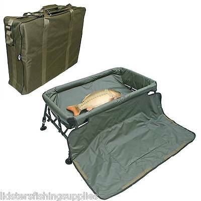 NGT Carp Cradle Protective Unhooking Mat with Knee Pad and Legs Fishing Tackle