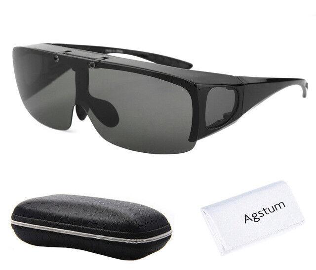 Agstum Hombre Mujer Envolvente Gafas polarizadas pesca conducción Glasses Flip Up