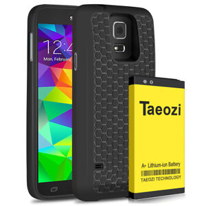 For Samsung Galaxy S5 Extended Battery [7800 mAh] with Cover & Case
