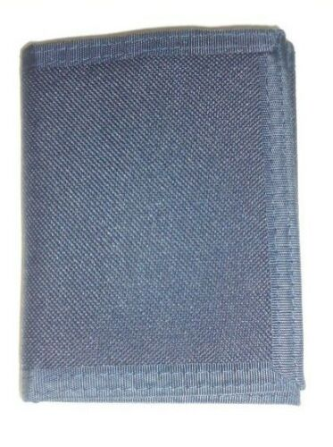 Navy Mens Puritan Nylon Trifold Wallet,Denim