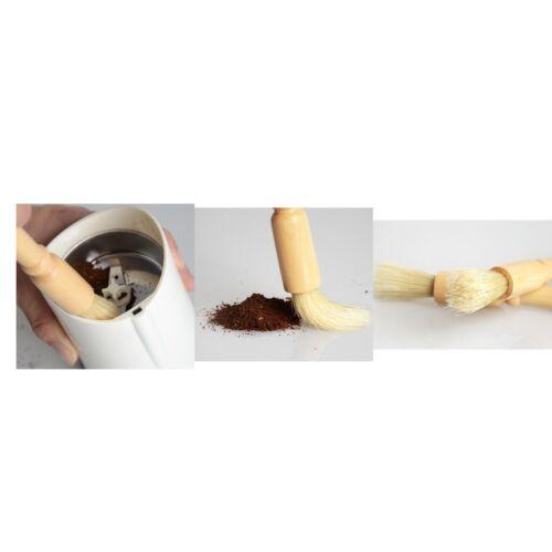 Kaffeemühle Reinigungsbürste Holzborsten Holzstaub Espressobürsten