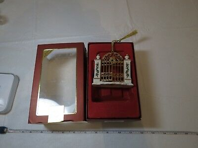 2007 First Year In New Home Lenox Porcelain Gate annual Christmas ornament NOS