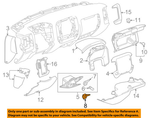 GM OEM Instrument Panel Dash-Auxiliary Outlet 22854091
