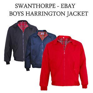 fe40eba736b6 Kids   Boys   Girls Classic Vintage Harrington Jacket (retro mod ...