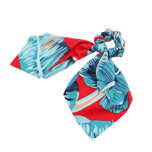 Boho Streamers Bow Hair Rope Tie Pretty Floral Leopard Scrunchies Hair Scarves