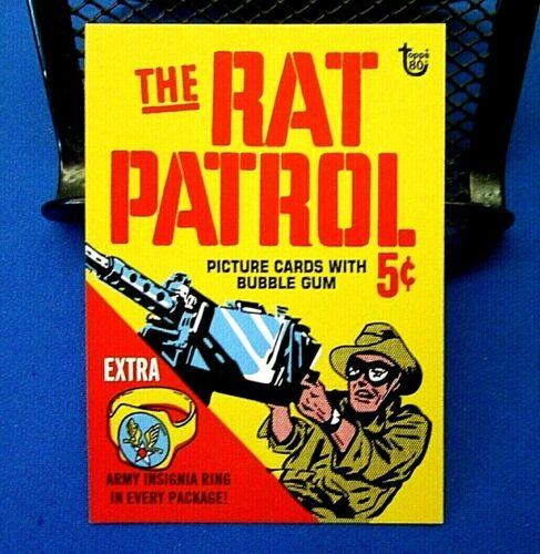 2018 TOPPS 80TH ANNIVERSARY WRAPPER ART CARDS NO.78 RAT PATROL 1966