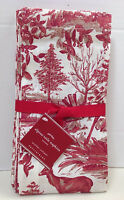 Pottery Barn Alpine Toile Dinner Napkins Reindeer, Set Of 4, With Tag