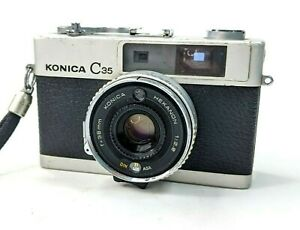 Vintage-Konica-C-35-Automatic-38m-Point-amp-Shoot-Camera-Untested-AS-IS