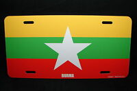 Burma Myanmar Flag Metal Novelty License Plate Tag For Cars