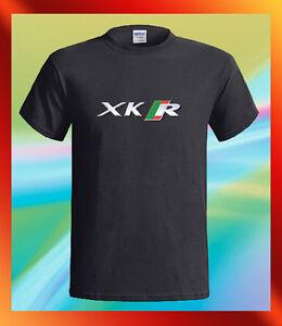 JAGUAR-XK-R-British-Racing-Car-Logo-Speed-Men-039-s-Black-T-Shirt-S-M-L-XL-2XL-3XL