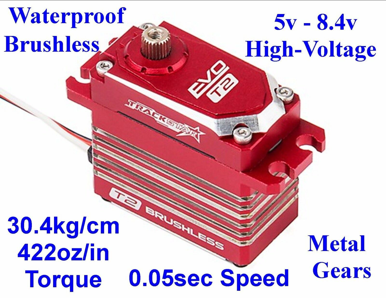 HV MG RC SERVO 4 Team Associated MGT 4.6 Rival 4x4 1/8 Brushless Nitro Gas RTR