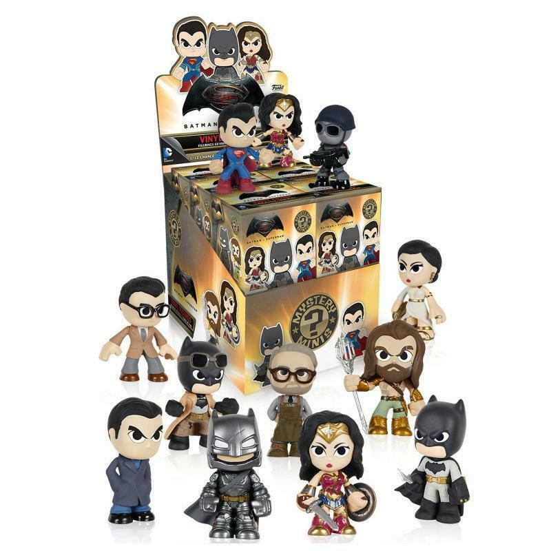 CASE OF 12 x DC COMICS BATMAN VS V SUPERMAN FUNKO MYSTERY MINIS VINYL FIGURES