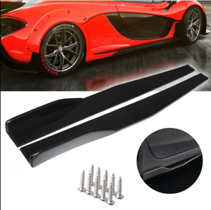 1 Pair Modified Universal,Fit Side Skirt Rocker Splitters Wind Blades Wings