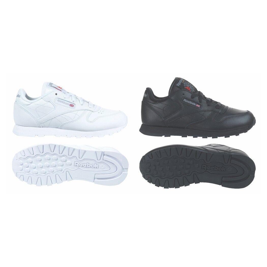 Reebok Classic Leather Cuir Enfants baskets Femmes Blanc Noir 50149 50151