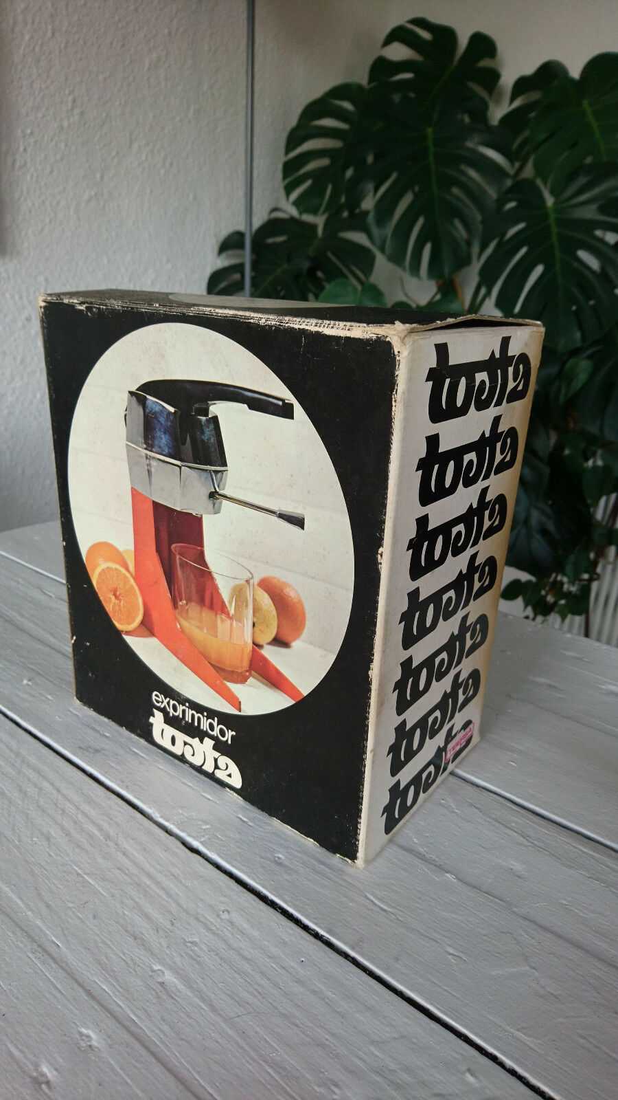 Presse Agrumes Exprimidor Industrial Design Space Age Plastic Orange Orange Orange vintage1970 99c7e5