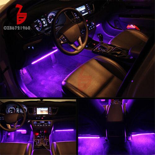 4X 9 SMD LED RGB LED Strip Lights Music Wireless Remote Control Car Decoration