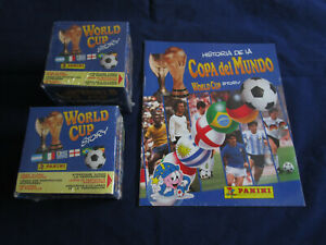 Panini WM WC World Cup Story 1990 1994, 2 x box / display + Leerabum/emty album