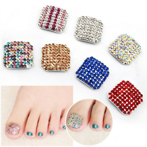 3D-Fake-Nails-Rhinestone-Crystal-Full-Cover-False-Toe-Tips-Nail-Art-Decoration