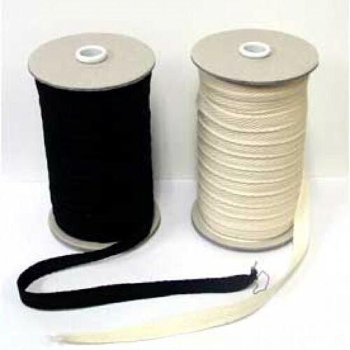 Cotton Webbing Binding Tape CW10-Black-M LL