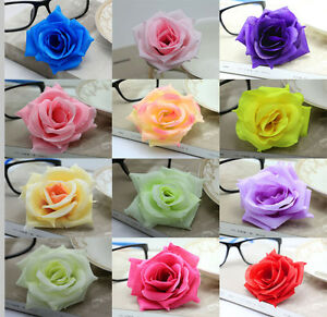 Wholesale 10-25-50PCS 8cm Roses Simulation flowers DIY silk flower heads wedding