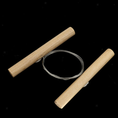Steel Cutting Wire for Clay Pottery Sculpture Modeling Making Wooden Handle