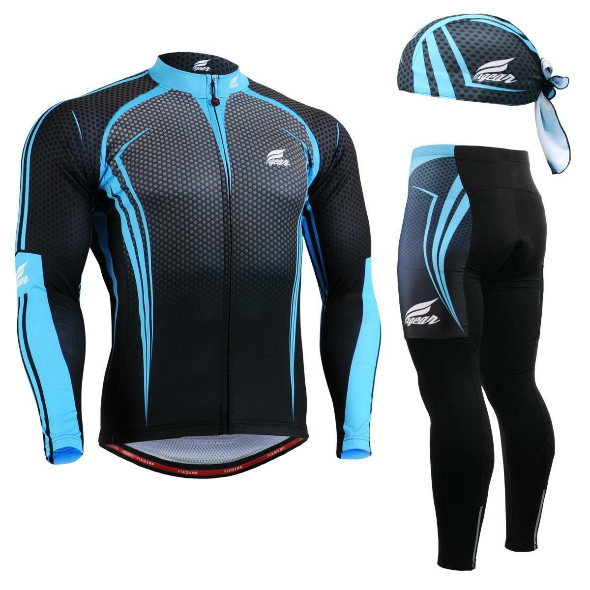 FIXGEAR SET CS-5601 SET FIXGEAR Cycling Jersey & Padded Pants,MTB Bike,BMX,Beanie Free GIFT 05ff2c