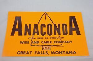 Vintage Anaconda Wire and Cable Company \
