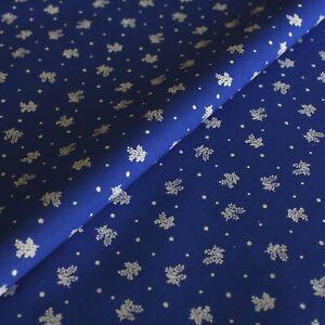 Stoff Meterware Blümchen Blau Baumwolle Dekostoff Blumenstoff