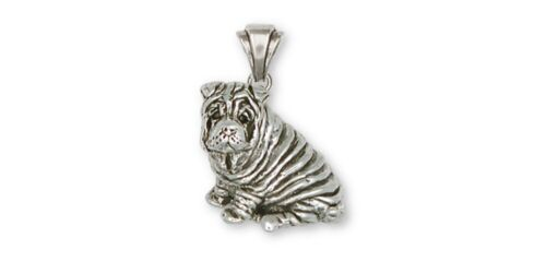 Shar Pei Pendant Jewelry Sterling Silver Handmade Dog Pendant SHP1-P