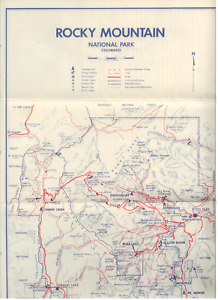 Details about Vintage Map & Brochure of Colorado Rocky Mountain National  Park, 1962 GOOD COND.