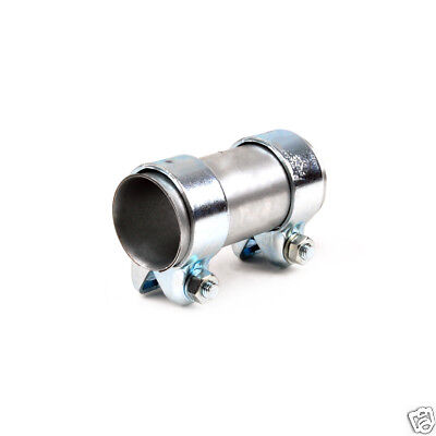 Heavy Duty Exhaust Sleeve Connector Pipe Clamp Tube Joiner 61//58mm Length 95mm