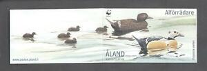 (874007) Birds, WWF, Ducks, Booklet, Aland