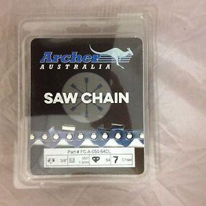 "2 pack 18"" Chainsaw Chain loop 3/8"" .050 64DL CHISEL repl. 72LGX064G ECHO CS-590"