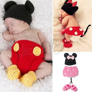 77955063313 Newborn Baby Girl Boy Crochet Knit Costume Photo Photography Prop ...