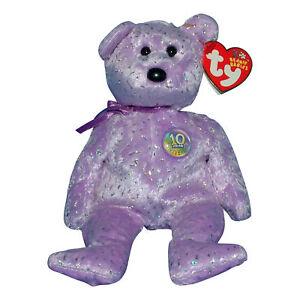 Image is loading Ty-Beanie-Baby-Decade-purple-MWMT-2003-Bear 5b60b9f82e6a
