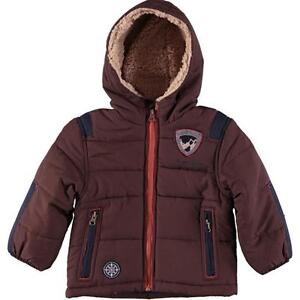 bc32c2e16ed4 London Fog Infant Boys Brown Fleece Lined Jacket Size 12M 18M 24M