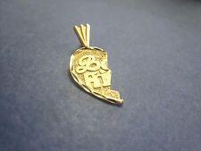14K Two Tone Gold Religious Crucifix Charm Pendant GJP848