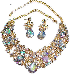 Filigree-Leaf-AB-Iridescent-Necklace-Set-Rhinestone