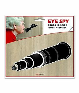 Image is loading Luckies-of-London-Eye-Spy-Telescope-Black-Spy-  sc 1 st  eBay & Luckies of London Eye Spy Telescope Black Spy-Hole Door Decor ...