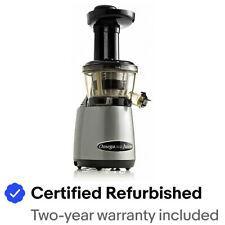 Omega VRT400HDSX Vertical Masticating Low Speed Juicer w/Tap - Refurbished