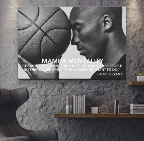 Kobe Bryant Quote Poster Kobe Bryant Canvas Mamba Mentality Definition